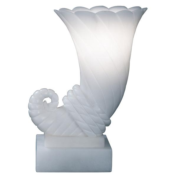 Алебастровый светильник в облике рога