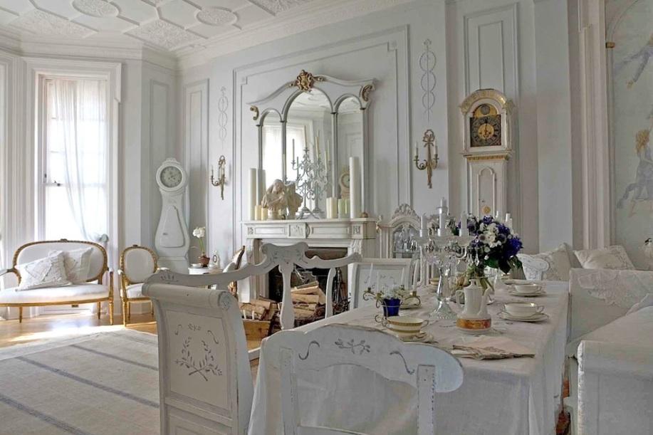 Белоснежный аристократический стиль убранства