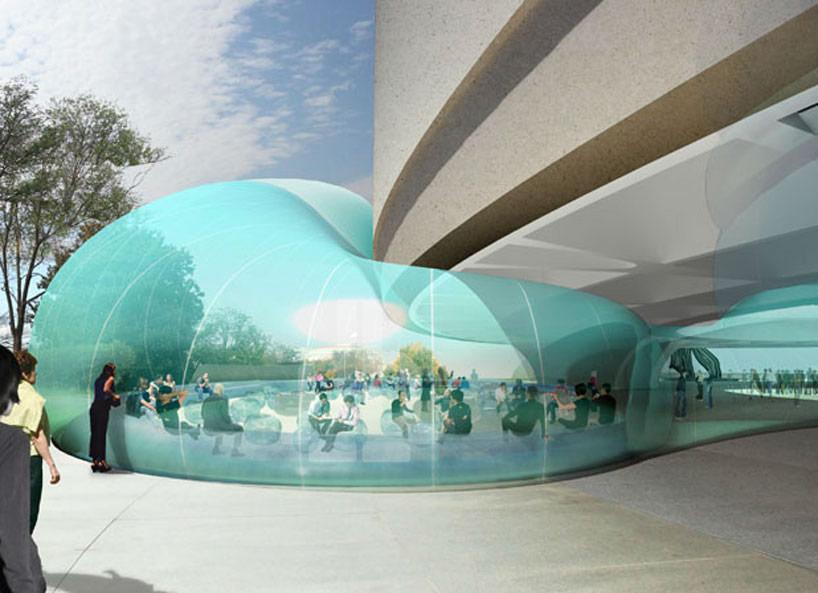 Здание из пузырей для музея Хиршхорна