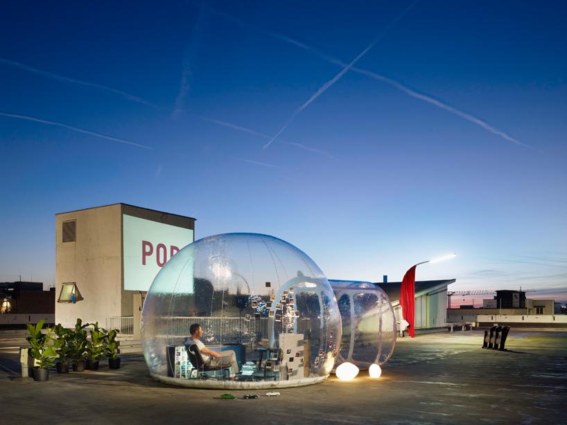 Здание из пузырей: проект ванной комнаты