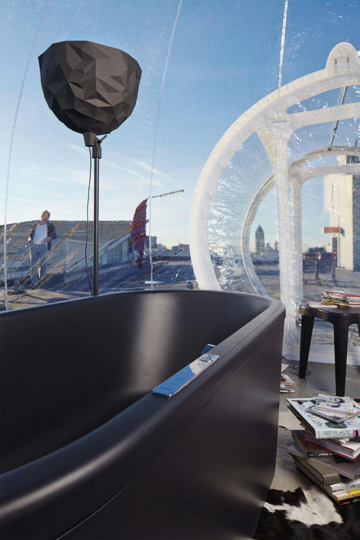 Здание из пузырей: мобильный шар со всеми удобствами