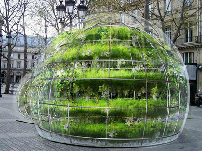 Здание из пузырей для релаксации в урбанистической среде