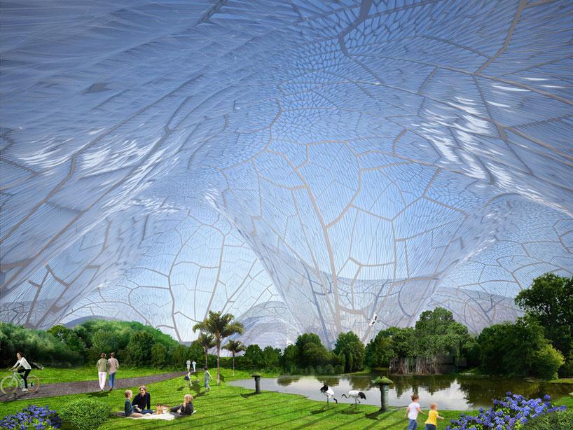 Здание из пузырей: проект парка «Пузыри»