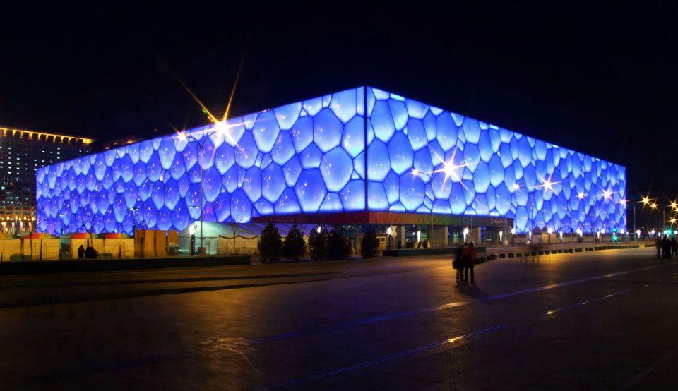 Здание из пузырей: национальный центр водных видов спорта