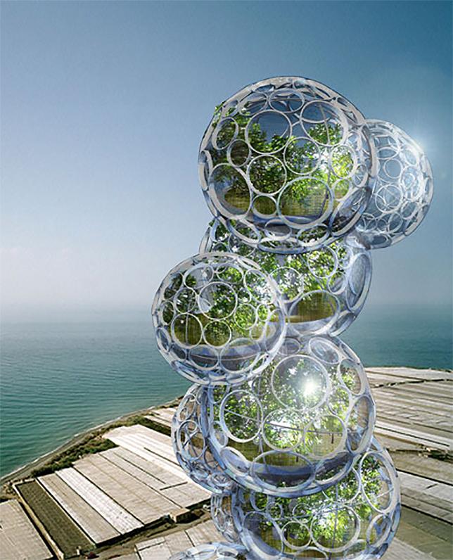 Здание из пузырей: проект небоскреба
