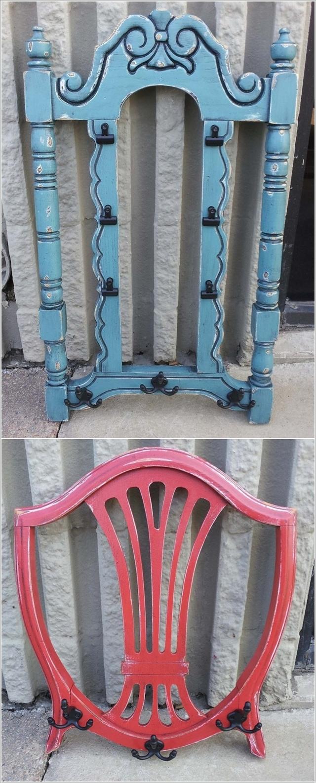 Спинка стула в качестве вешалки