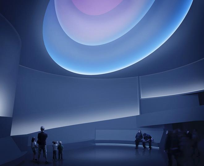 Красивая световая инсталляция от James Turrell