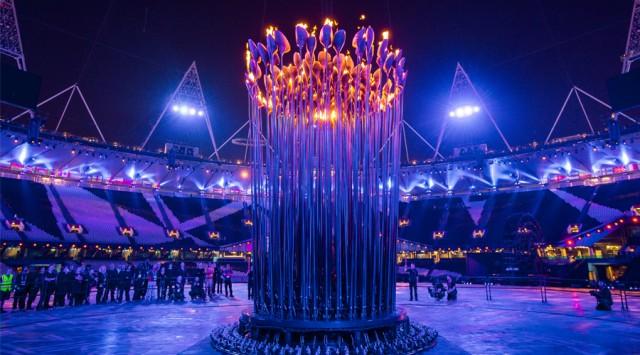 Световая инсталяция на Олимпийских играх от Томаса Хезервика