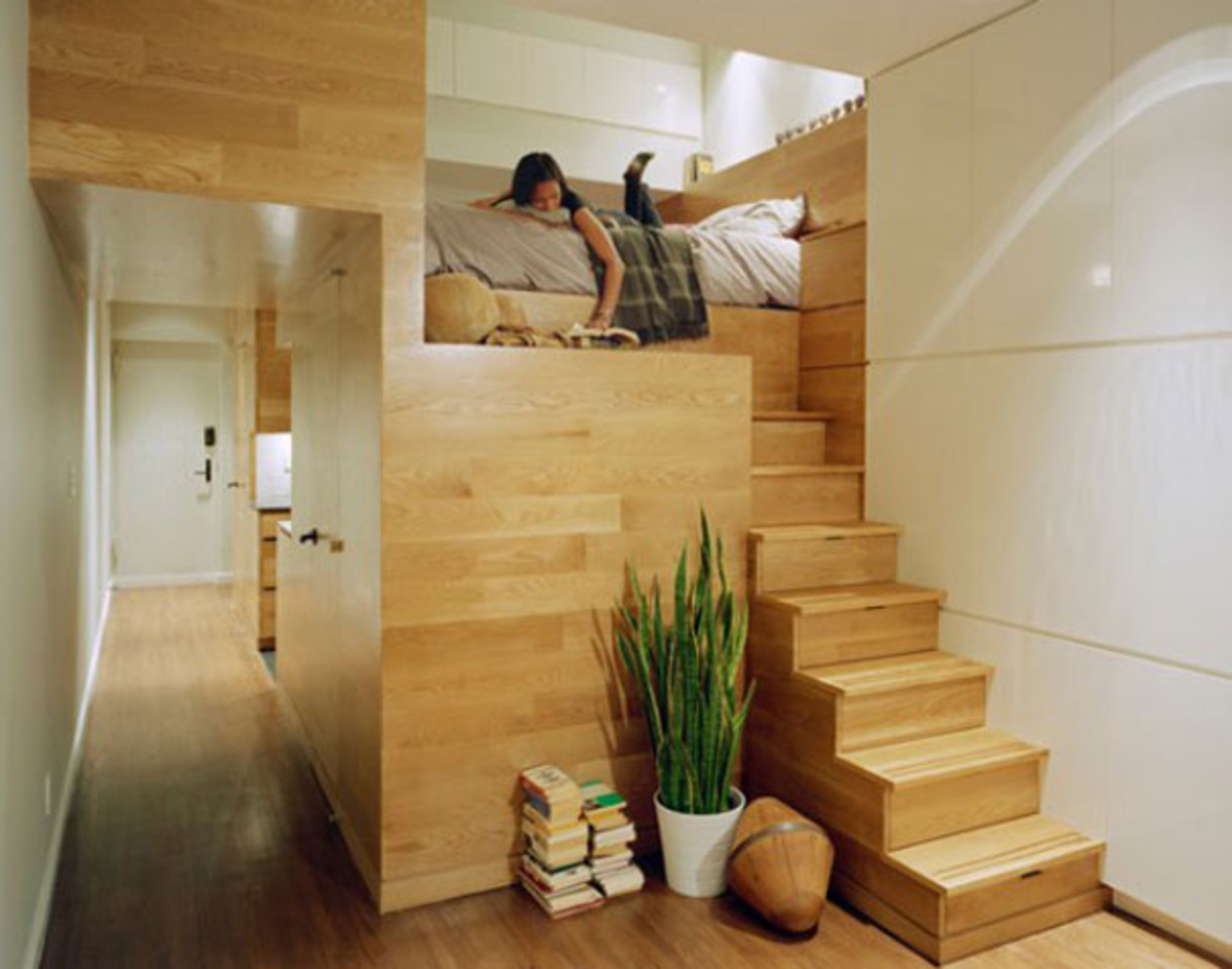 Дизайн узкой квартиры студии в 46 кв.м.