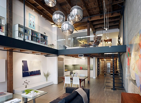 Modern Decoration Industrial Home Design Dark And Dashing