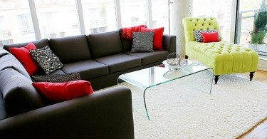 yellow-lounge-and-black-l-shaped-couch