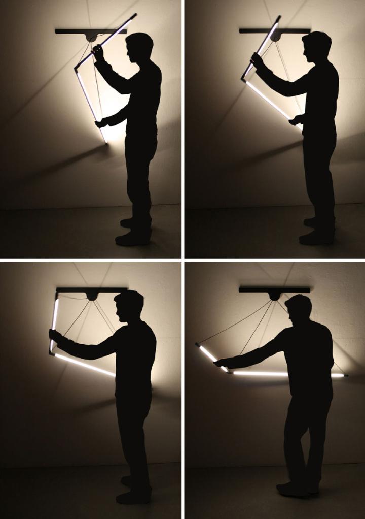 Уникальный модульный настенный светильник от Geoffroy Gillant