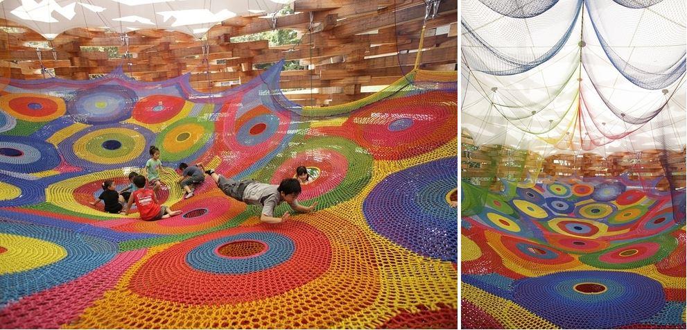 Вязаные детские площадки