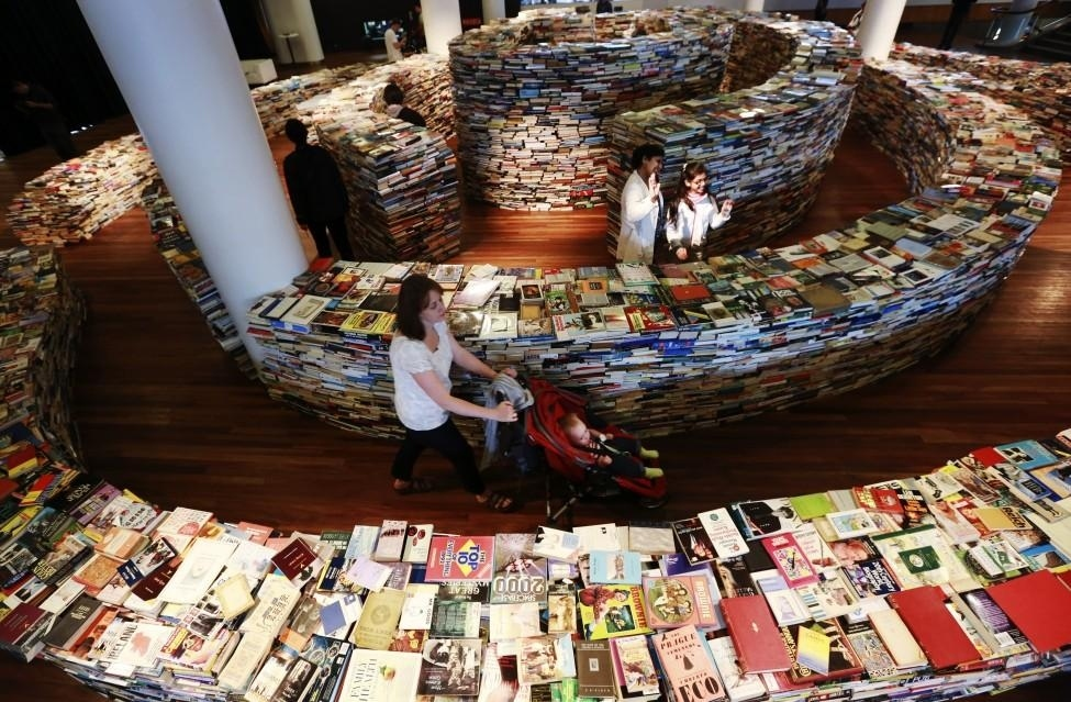 Оригинальный книжный магазин-лабиринт