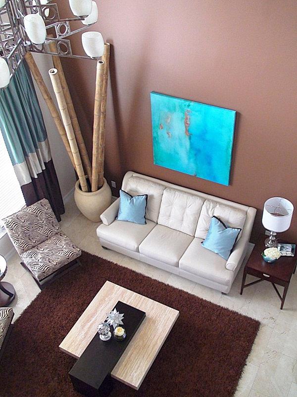 Бамбук в дизайне гостинной