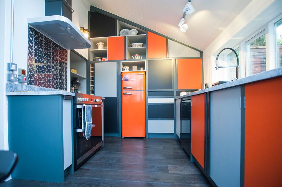 Геометрические элементы в интерьере кухни