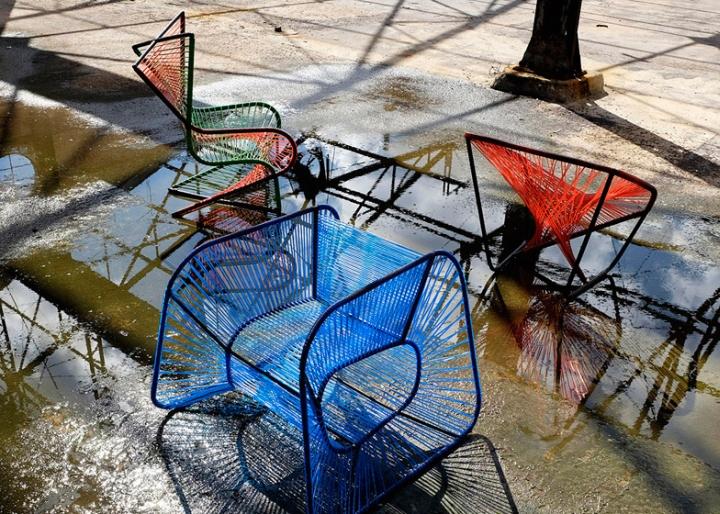Металлические кресла Vibra от Райко Валладареса и Хосе А Вильи