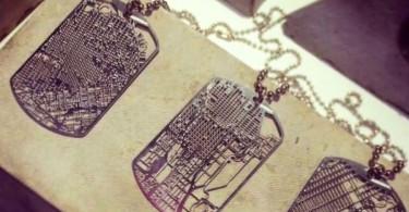 дизайнеры Aminimal Studio перенесли карту местности на ожерелье