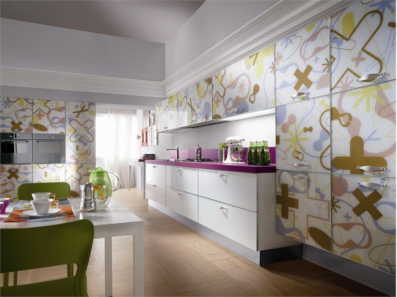 Узоры на фасадах кухонной мебели