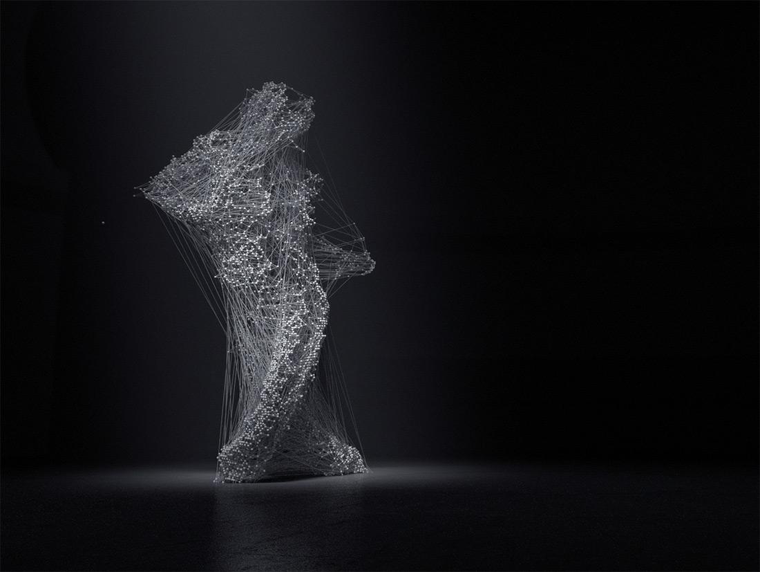 3D моделирование серого силуэта