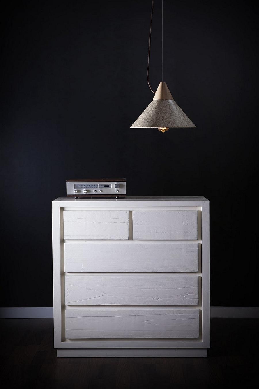 Дизайнерский светильник из гранита