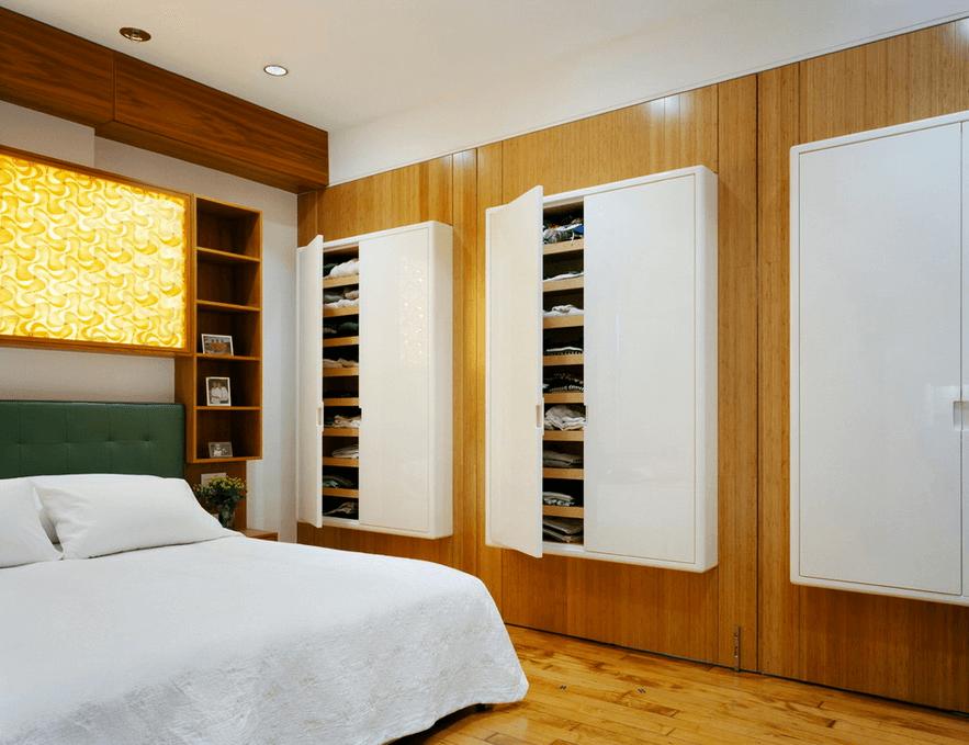 Навесные шкафы для одежды