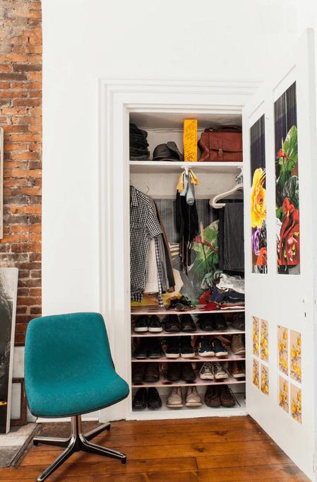 Встроенное место для хранения одежды