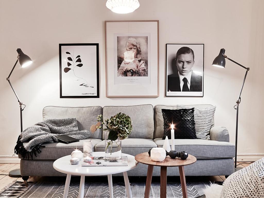 Кофейные столики в гостиной зоне