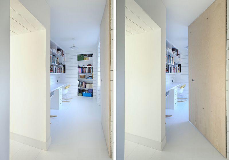 Белоснежное оформление интерьера коридора