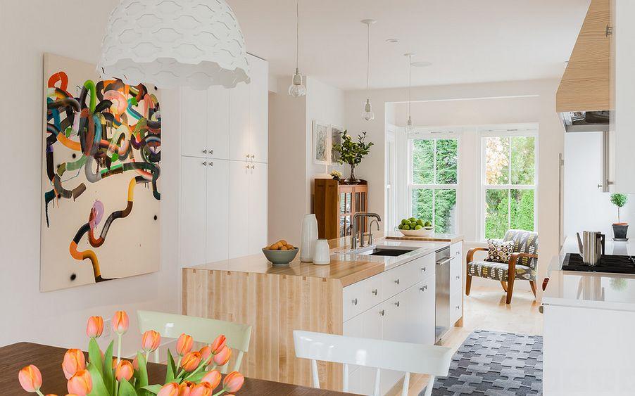 Оформление кухонной зоны в скандинавском стиле