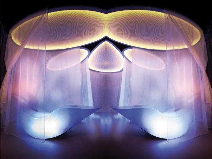 Светодиодная подсветка у кресла