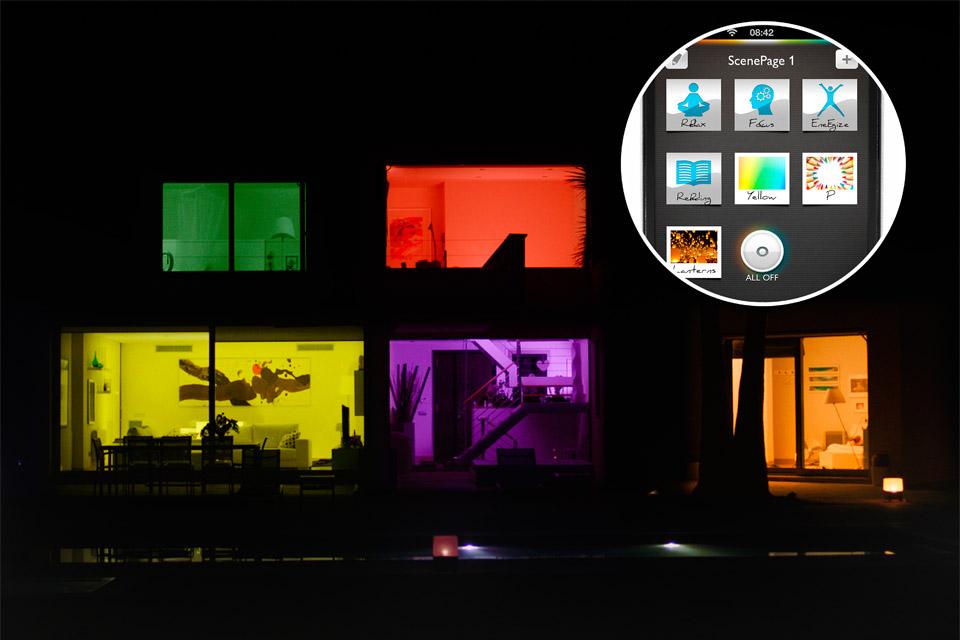 Управление неоновым светом с помощью смартфона
