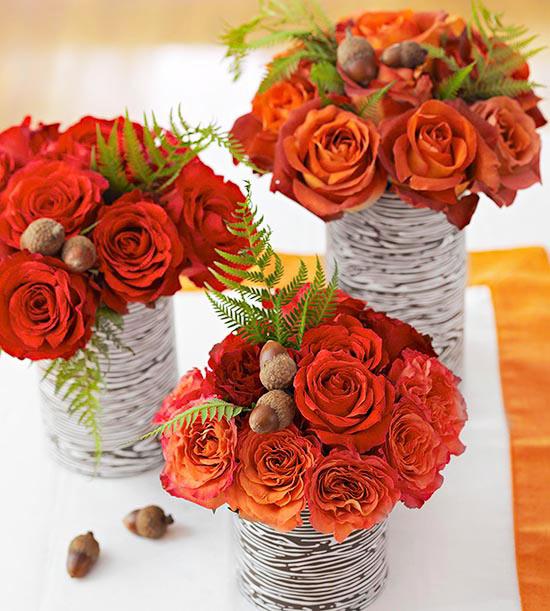 Ваза с осенними цветами