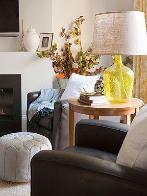 Осенний декор в гостиной