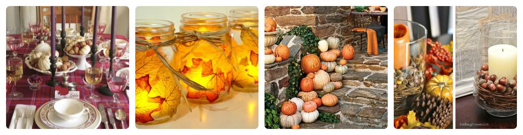 Осенние украшения дома