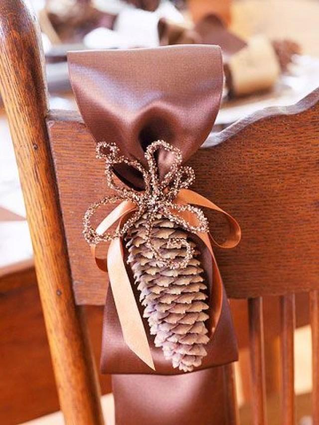 Красивый осенний декор для стула