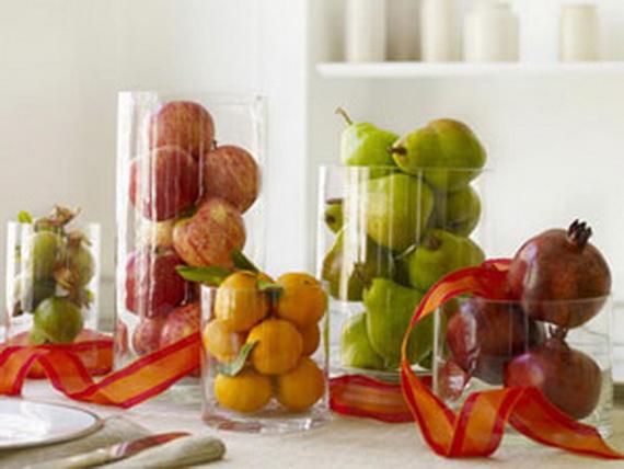 Осенние фрукты в качестве декора