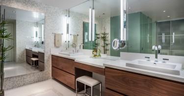 Зеркало с подсветкой в роскошном дизайне интерьера