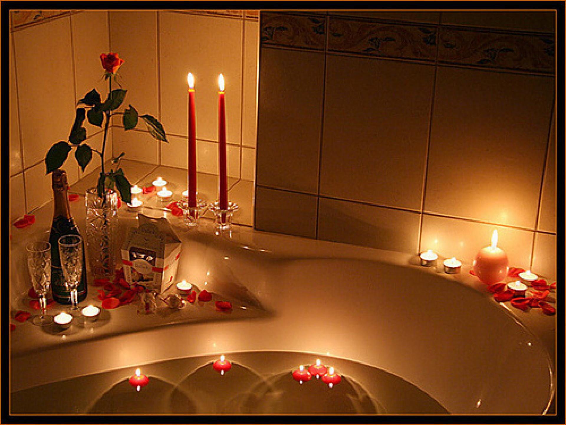 Секс в ванне свечи 20 фотография