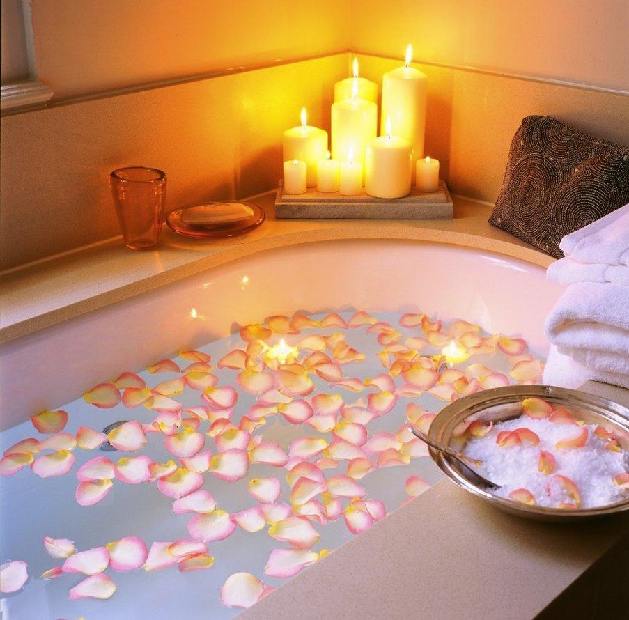 Украшение ванной комнаты - фото идей ко дню Святого Валентина