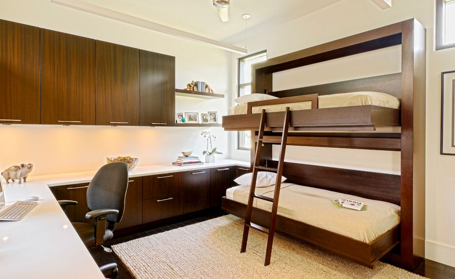 Современный стиль двухъярусной кровати