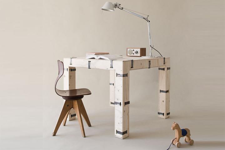 Модульный стол из дерева