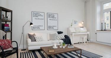 Благородный скандинавский стиль в интерьере квартиры в Гётеборге