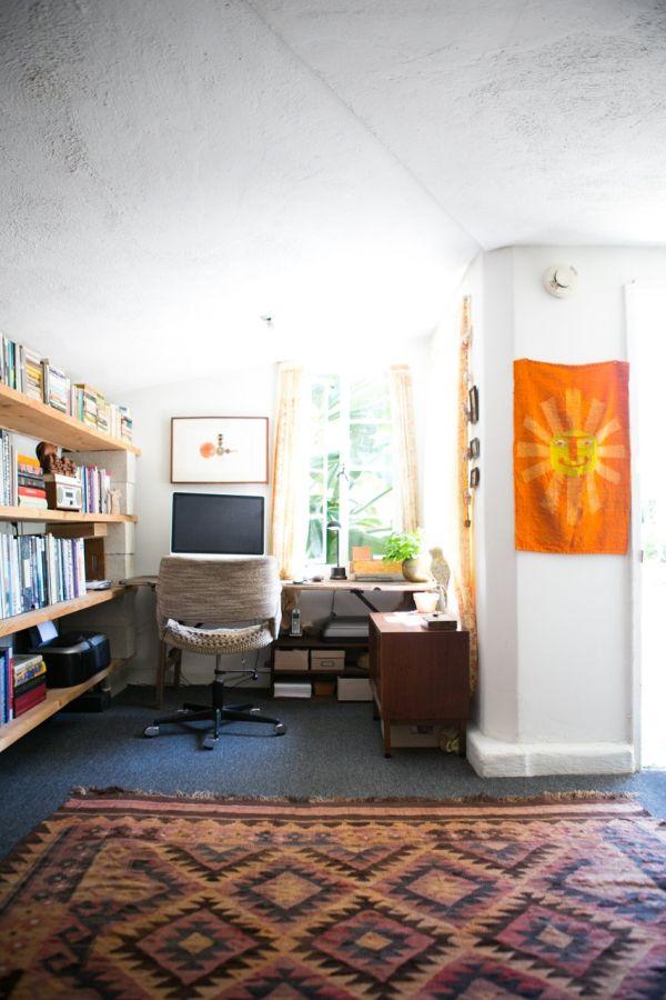 Интерьер домашнего кабинета в богемном стиле