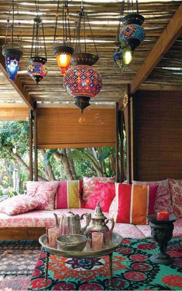 Декор веранды в богемном стиле