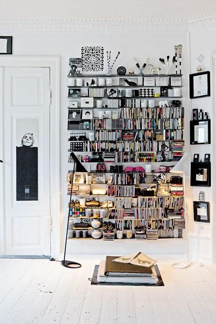 Открытые полки для книг