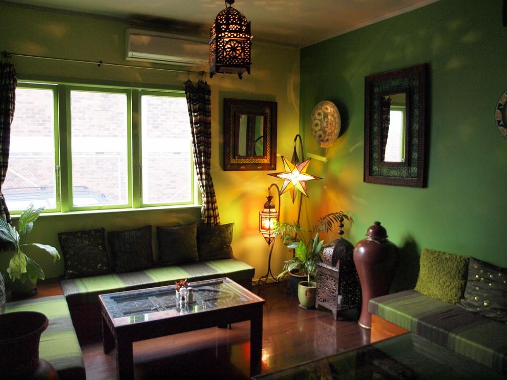 Оформление гостиной в тропическом стиле
