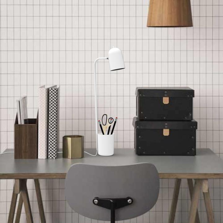 Оригинальный дизайн настольной лампы Buddy в белом цвете