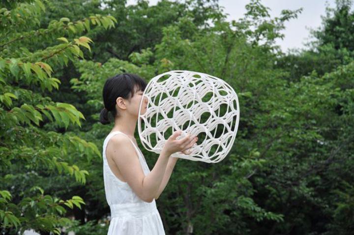 Красивый плетенный табурет Hechima 5 от Ryuji Nakamura