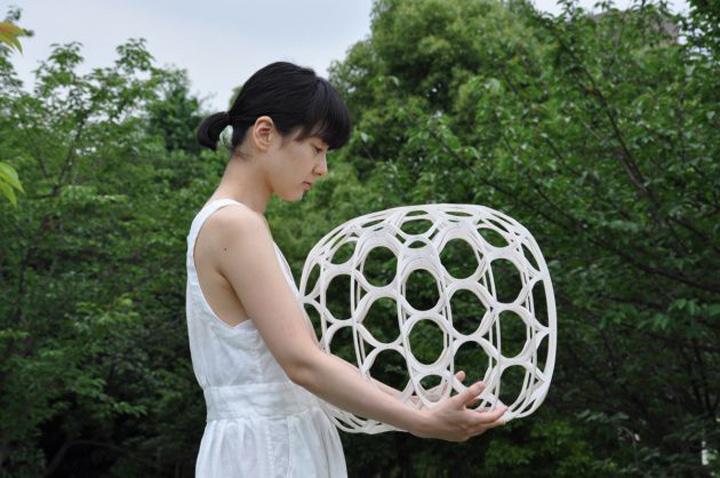 Чудесный плетенный табурет Hechima 5 от Ryuji Nakamura